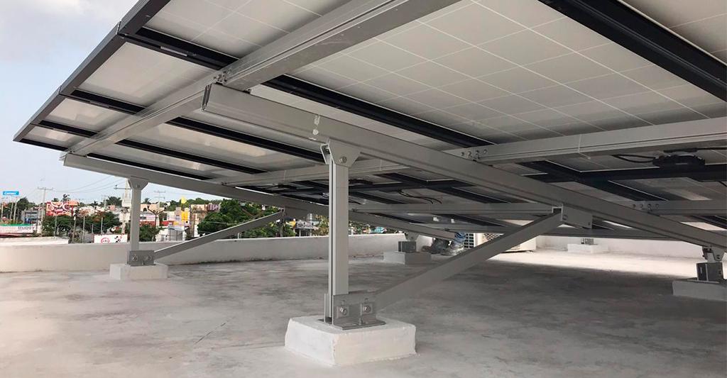 Estructuras para paneles solares en merida